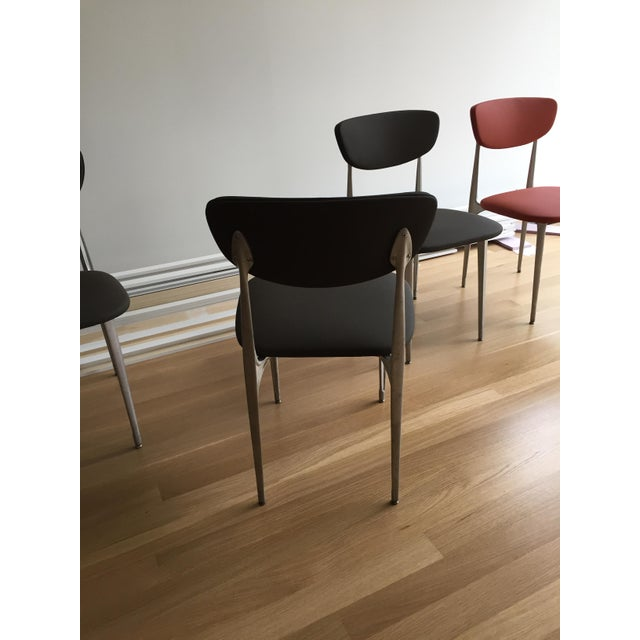 Vintage Contemporary Black Dining Chairs Set Of 6 Chairish