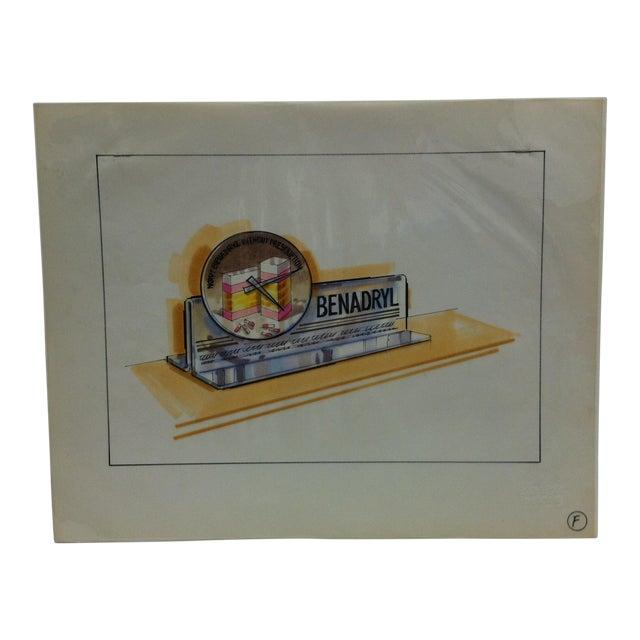 "1980s ""Benadryl"" Displayco East Original Advertising Drawing For Sale"