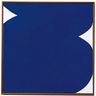 Original Framed Klein Blue Abstract Painting by Brooks Burns For Sale