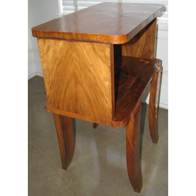 French Art Deco Burl Wood Cabinet / Liquor Bar - Image 7 of 11