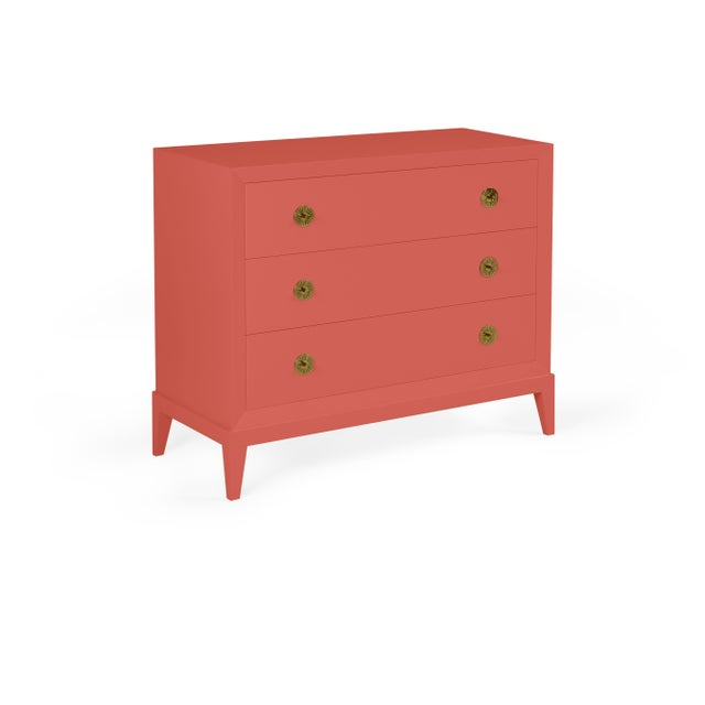 Transitional Casa Cosima Hayes Chest, Crimson For Sale - Image 3 of 3