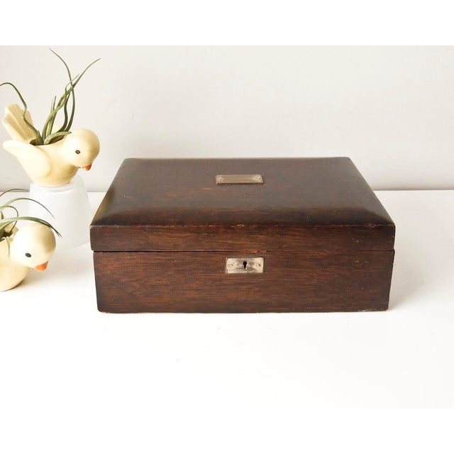 Vintage Wood Jewelry Trinket Box - Image 9 of 9