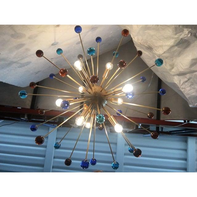 Contemporary Murano Glass Triedo Sputnik Chandelier For Sale - Image 10 of 13