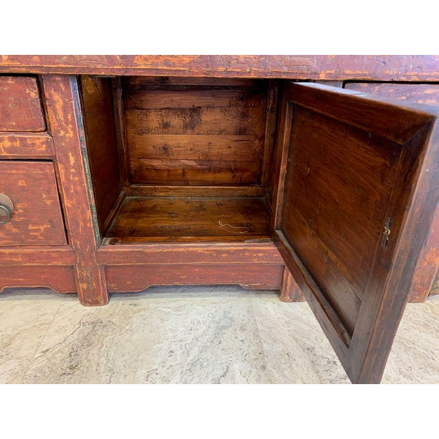 20th Century Tibetan Dowry Chest For Sale - Image 4 of 10