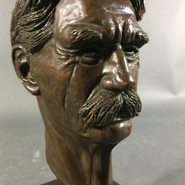 1950s Bronze Sculpture of Nobel Winner Albert Schweitzer, 1955 For Sale - Image 5 of 10