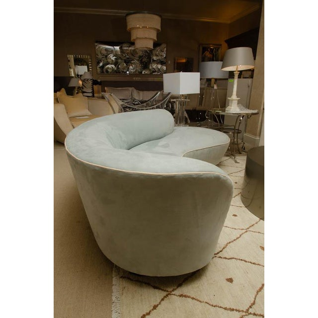 """The famous """"cloud"""" sofa done by Vladimir Kagan in the 1970's. It is acrylic and upholstered in suede"""