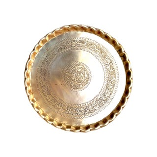 Early 20th Century Asian, Boho Chic, Moroccan Brass Etched Trays Preview