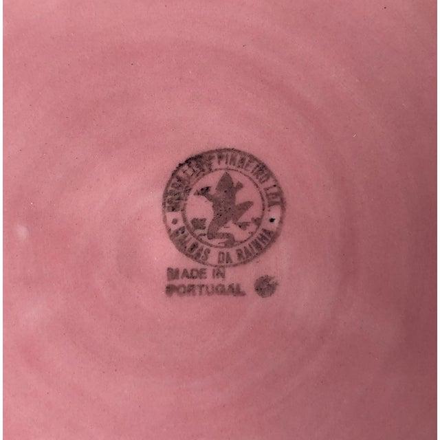 Bordado Pinheiro Pink Cabbage Leaf Majolica Tureen, Lid, Platter& Ladle For Sale - Image 9 of 11