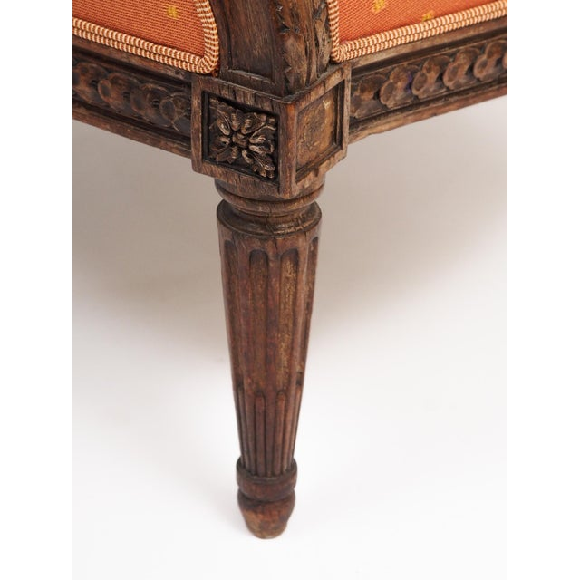 """French Louis XVI Style Bergere """"En Gondole"""" For Sale - Image 3 of 9"""