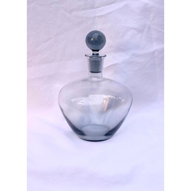 1950s Mid-Century Smoked Glass Cordial Decanter Set For Sale - Image 5 of 7