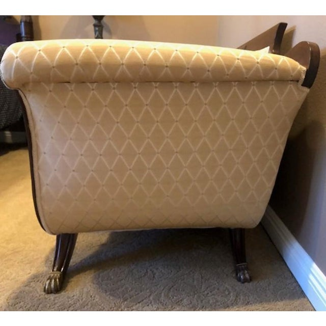 Late 18th Century Duncan Phyfe Mahogany Settee For Sale - Image 5 of 8