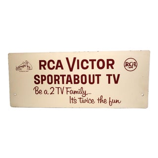Mid 20th C. RCA TV Advertising Sign For Sale