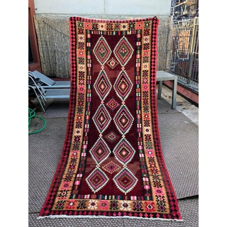 Large Vintage Persian Kilim - 4′5″ × 10′10″ Preview