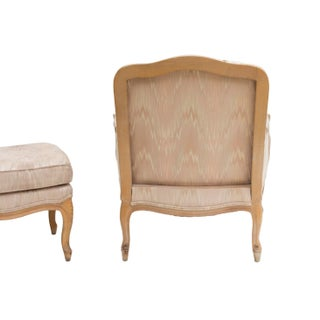 French Provincial Chair and Ottoman by Woodmark Preview