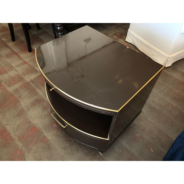 Early 21st Century Deco Style Nightstand With Rounded Front For Sale - Image 5 of 12