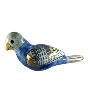 Large Tonala Jalisco Mexico Erandi Bird Dove Parrot Sculpture For Sale