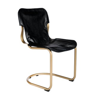 Eddie Dining Chair in Brass