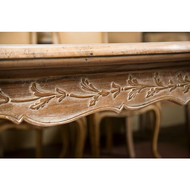 French Provincial Style Distressed Dining Table For Sale - Image 5 of 8