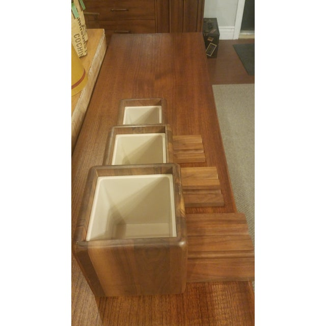 Mid-Century Modern Vintage Mid-Century Eames Teak Canister Set - 3 Pieces For Sale - Image 3 of 5