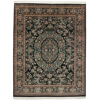 Vintage Aubusson Garden Style Area Rug With Traditional Design - 9′ × 11′6″ For Sale