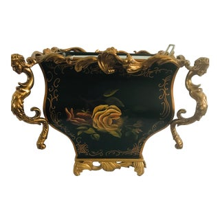 Late 20th Century Tole Plant Holder For Sale