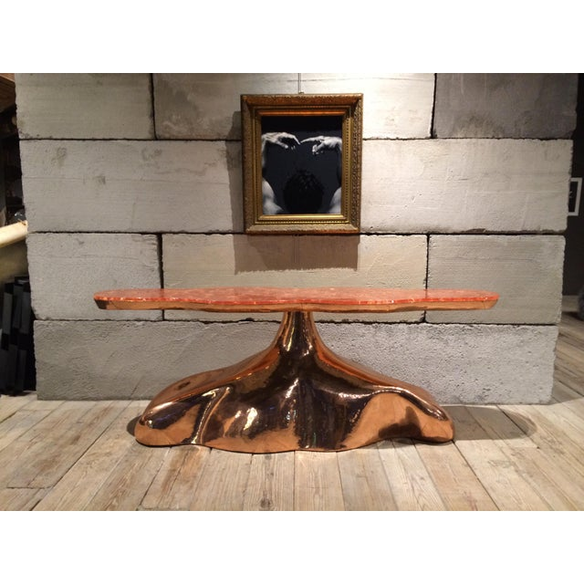 Copper Sculptural Copper Console Table by Sylvan s.f. For Sale - Image 7 of 7