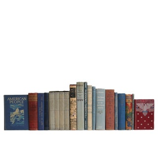 Vintage Faded Glory Americana Book Set, S/20 Custom Set For Sale