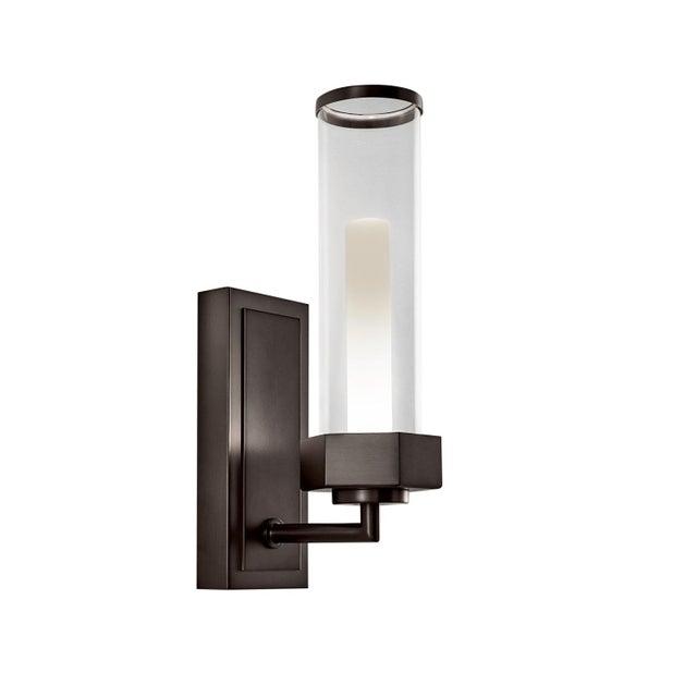Art Deco Regent Black Bronze Bathroom Wall Light IP44 For Sale - Image 3 of 3