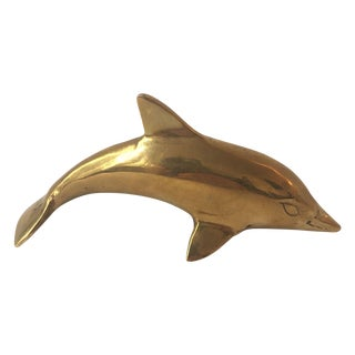 Vintage Brass Dolphin For Sale
