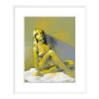 Figure 9 by David Orrin Smith in White Frame, Medium Art Print For Sale