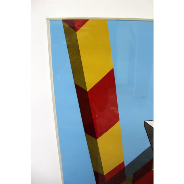 Mid-Century Modern 1968 Mid-Century Modern Allan d'Arcangelo Abstract Surrealist Print For Sale - Image 3 of 9