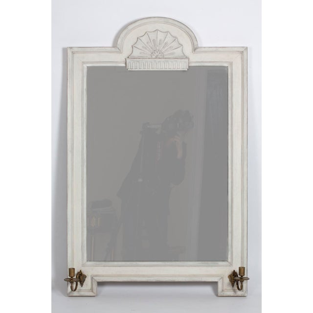 Vintage Gustavian Style Mirror With Candle Arms - Image 6 of 6