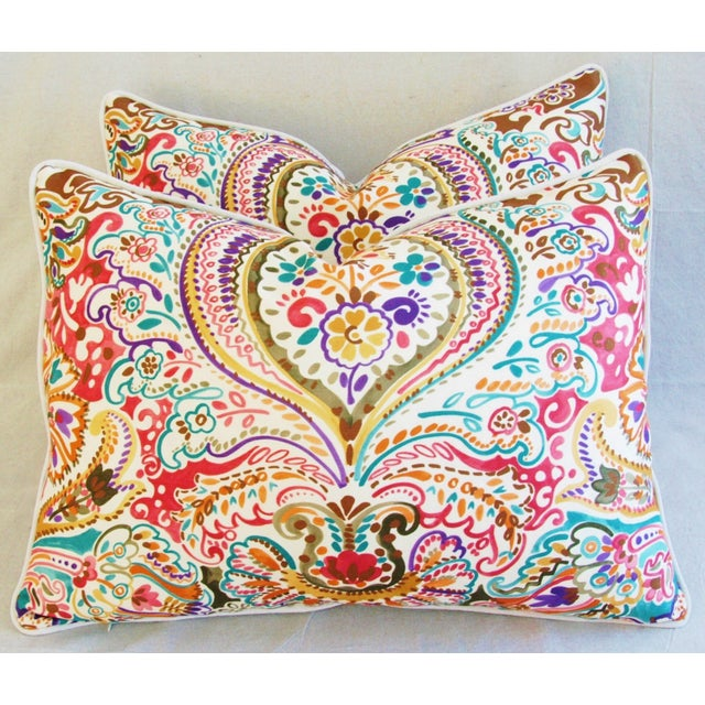 Custom Colorful Cotton & Linen Pillows - Pair - Image 2 of 11