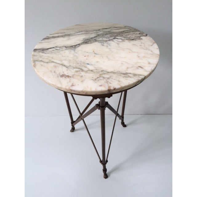 French Directoire Gueridon Table With Marble Top - Image 3 of 9