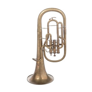 Weltklang Vintage Marching Baritone Horn For Sale