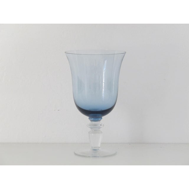 Blue Glass Goblets - Set of 8 - Image 5 of 5