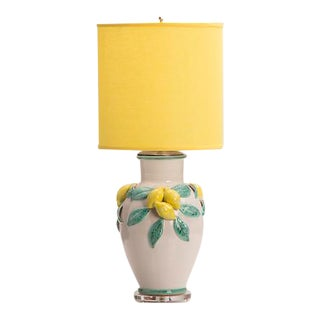 Hand Made Glazed Terra Cotta Vase by Solimene, Italy Custom Mounted as a Lamp For Sale