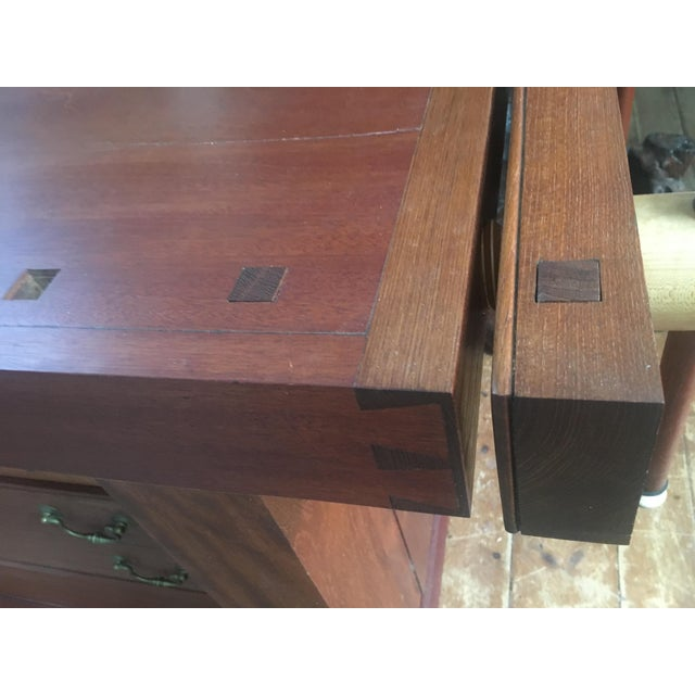 Custom Hand Built Work Bench by Swiss Craftsman Andrew Sykes For Sale In New York - Image 6 of 12