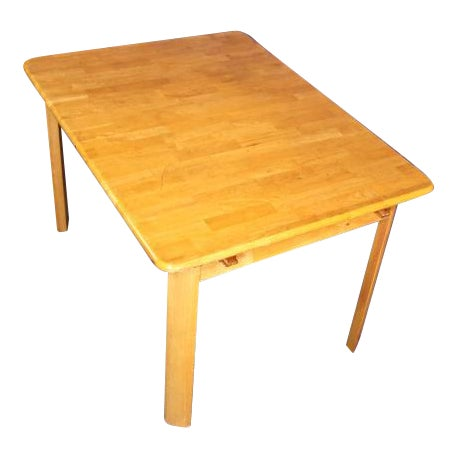 Mid-Century Modern Wooden Dining Kitchen Table For Sale