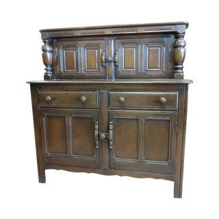 English Dark Oak Court Cupboard For Sale