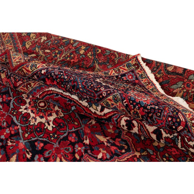 Mid 20th Century Vintage Persian Rug For Sale - Image 4 of 9