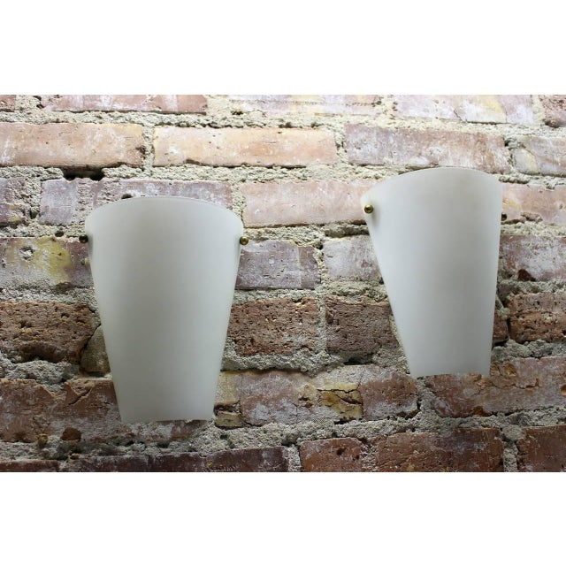 Stilnovo 1950s Wall Sconces in Style of Stilnovo - a Pair For Sale - Image 4 of 5