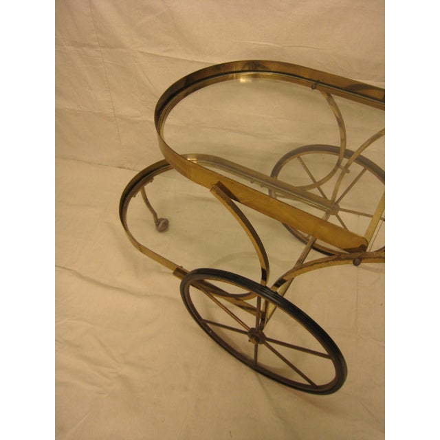 Deco Brass Bar Cart - Image 6 of 10