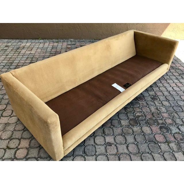 Milo Baughman for International Tuxedo Sofa For Sale In Tampa - Image 6 of 13