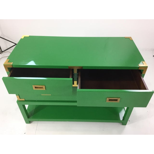 Bungalow 5 Green Lacquer Tansu Console Chest For Sale In Atlanta - Image 6 of 8
