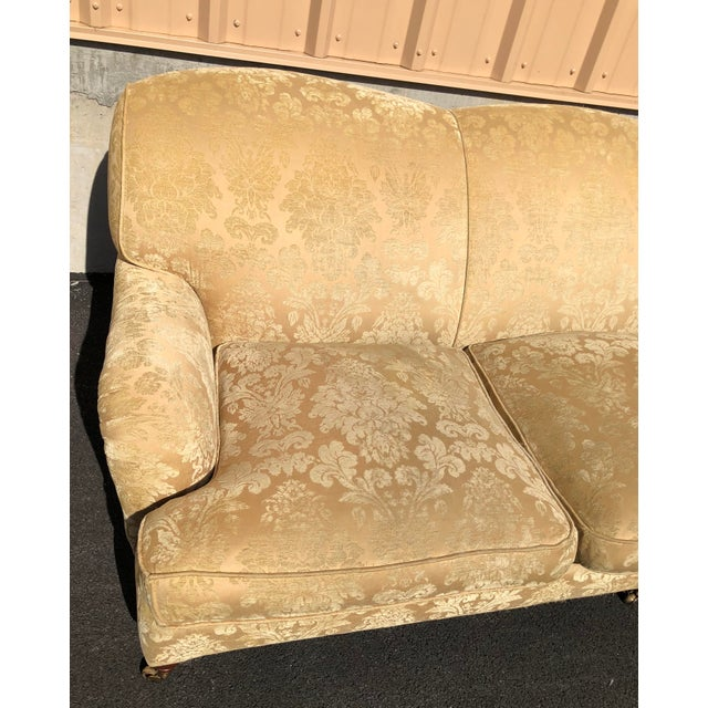 American Classical Modern Ralph Lauren Damask Wyman Sofa For Sale - Image 3 of 9