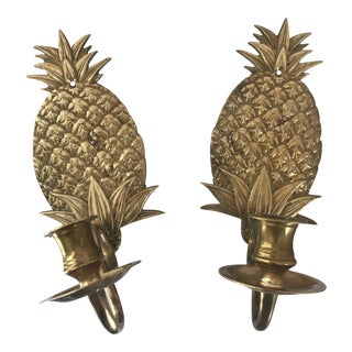 Brass Pineapple Wall Sconces For Sale