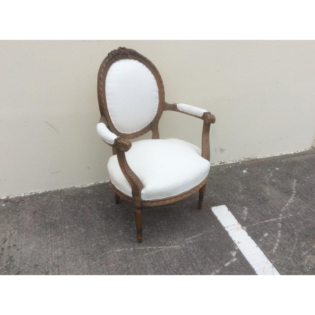 French Arm Chair With Rounded Back For Sale In San Antonio - Image 6 of 10