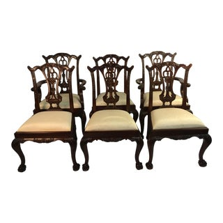 Set of 6 Maitland Smith Vintage Dining Chairs For Sale