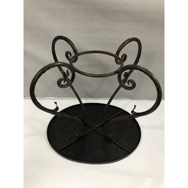 Metal Oval Metal Side Table For Sale - Image 7 of 9